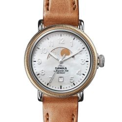 Ladies' Shinola 'The Runwell' Coin Edge Moon Phase Watch S0120109235