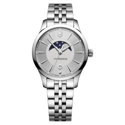 Ladies' Victorinox Swiss Army Alliance Moonphase Stainless Steel 35mm Watch 241833