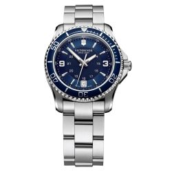 Ladies' Victorinox Swiss Army Maverick Stainless Steel Blue Dial 34mm Watch 241609
