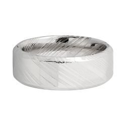 Lashbrook Woodgrain Damascus Steel 8mm Comfort Fit Band