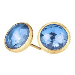 Marco Bicego Jaipur Small Blue Topaz Button Earrings