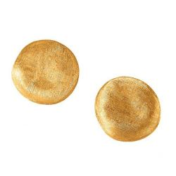 Marco Bicego Jaipur Yellow Gold Button Stud Earrings