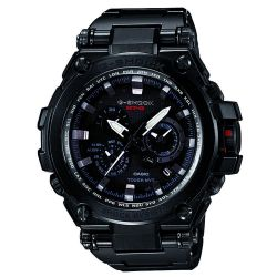 Men's Casio G-Shock MT-G Metal Solar Twisted Black Stainless Steel Chrono Tough Watch
