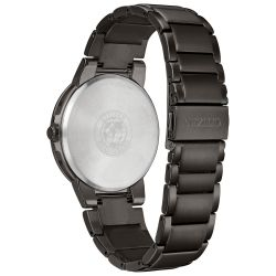 Men's Citizen Eco-Drive Axiom Black Stainless Steel Watch BJ6517-52E
