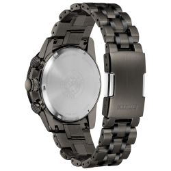 Men's Citizen Eco-Drive Nighthawk Grey Stainless Steel and Grey Dial Watch CA4377-53H