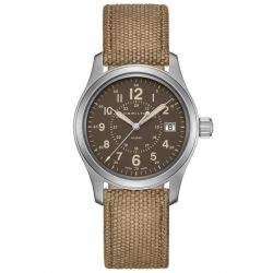 Men's Hamilton Khaki Field Brown Canvas Strap Watch H68201993