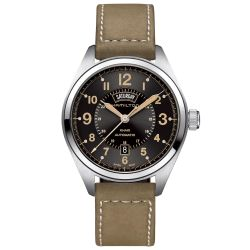 Men's Hamilton Khaki Field Day Date Auto Leather Watch H70505833