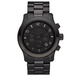 Men's Michael Kors Blacked Out Runway Chronograph Watch MK8157