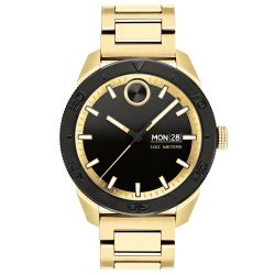Men's Movado BOLD Sport Black Dial Gold Ion-Plated Stainless Steel Watch 3600605