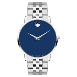 Men's Movado Museum Classic Blue Dial Watch 0607212
