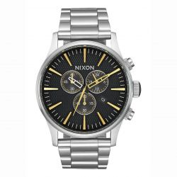 Men's Nixon Sentry Chrono Black Dial Watch A3862730