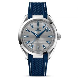 Men's OMEGA Seamaster Aqua Terra Co-Axial Master Chronometer 41mm Blue Rubber Strap Watch O22012412106001