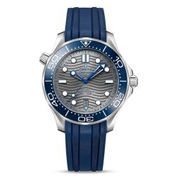 Men's OMEGA Seamaster Diver 300 Co-Axial Blue Rubber Strap Watch O21032422006001