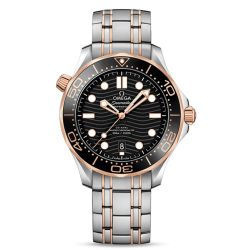 Men's OMEGA Seamaster Diver 300 Co-Axial Stainless Steel and Gold Watch O21020422001001