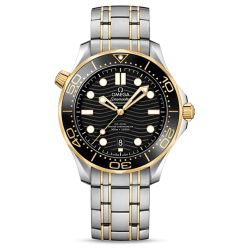 Men's OMEGA Seamaster Diver 300M Co-Axial Black Dial Watch O21020422001002