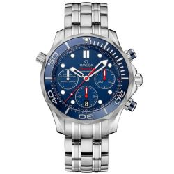 Men's OMEGA Seamaster Diver Co-Axial Chronograph Blue Dial Watch O21230445003001