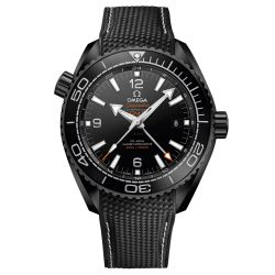 Men's OMEGA Seamaster Planet Ocean Deep Black Rubber Strap Watch O21592462201001