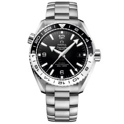 Men's OMEGA Seamaster Planet Ocean Master Chronometer Black Dial Stainless Steel Watch O21530442201001