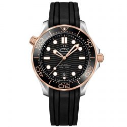 Men's OMEGA Seamaster Professional Diver Black Rubber Strap Watch O21022422001002