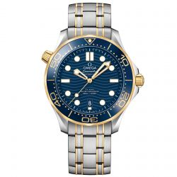 Men's OMEGA Seamaster Professional Diver Blue Dial Two-Tone Stainless Steel Watch O21020422003001