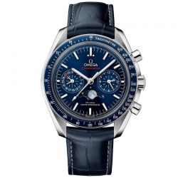 Men's OMEGA Speedmaster Moonphase Chronograph Blue Watch O30433445203001