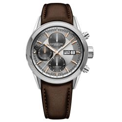 Men's Raymond Weil Freelancer Automatic Chronograph Silver Dial Brown Leather Strap Watch 7731-SC2-65655
