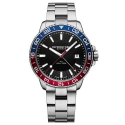 Men's Raymond Weil Tango Stainless Steel Blue and Red Diver Watch 8280-ST3-20001