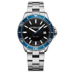 Men's Raymond Weil Tango Stainless Steel Blue Diver Watch 8260-ST3-20001