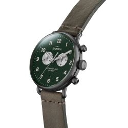 Men's Shinola 'The Canfield' Chrono 43mm Green Dial Watch 20065283