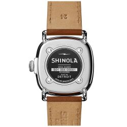 Men's Shinola 'The Guardian' Grey Dial Leather Strap Watch 20029583