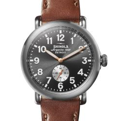 Men's Shinola 'The Runwell' Gunmetal Dial Watch S0120109231