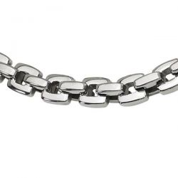Men's Stainless Steel Box Link Chain Necklace