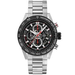 Men's TAG Heuer CARRERA Calibre Heuer 01 Automatic Chronograph Watch CAR2A1W.BA0703
