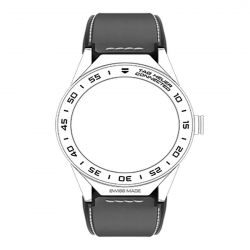 Men's Tag Heuer Connected Modular 45 Grey Calfskin Strap
