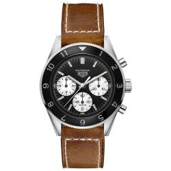 Men's TAG Heuer HERITAGE Autavia Calibre Heuer 02 Automatic Chronograph Watch CBE2110.FC8226