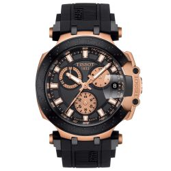 Men's Tissot T-Race Chronograph Rose Gold PVD Watch T1154173705100