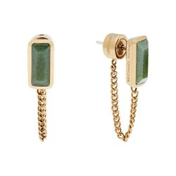 Michael Kors Jade Gold-Tone Loop Earrings