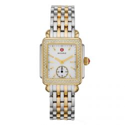 Michele Deco Mid Diamond Two-Tone Watch MWW06V000023