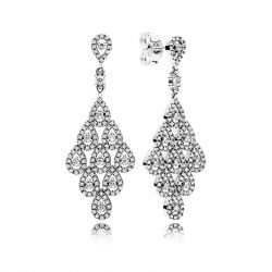 PANDORA Cascading Glamour Earrings, Clear Cubic Zirconia