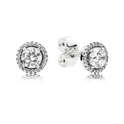 PANDORA Classic Elegance Stud Earrings, Clear Cubic Zirconia
