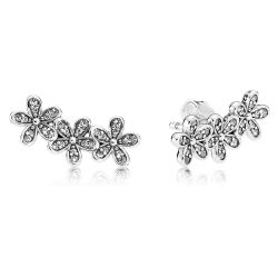 PANDORA Dazzling Daisies Earrings, Clear Cubic Zirconia