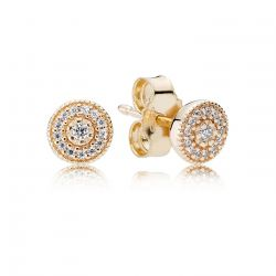 PANDORA Radiant Elegance Gold Stud Earrings