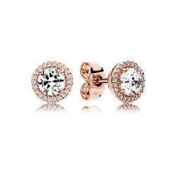 PANDORA Rose Classic Elegance Stud Earrings, Clear Cubic Zirconia
