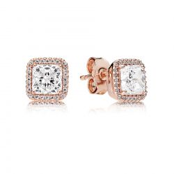 PANDORA Rose Timeless Elegance Earrings, Clear Cubic Zirconia