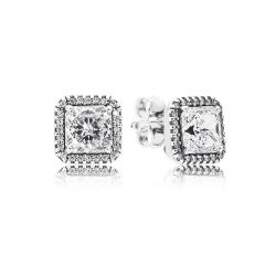 PANDORA Timeless Elegance Earrings, Clear CZ