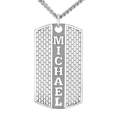 Personalized Dog tag Pendant 20x36mm