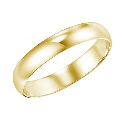 REEDS Priority Plain Low Dome Yellow Gold Band, 5mm