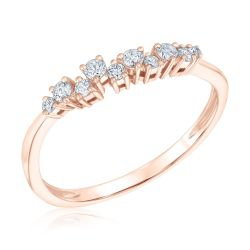 REEDS Exclusive Narrative Rose Gold Diamond Fashion Ring 1/5ctw