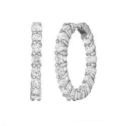 Roberto Coin Inside Outside Diamond Hoops 2 1/3ctw