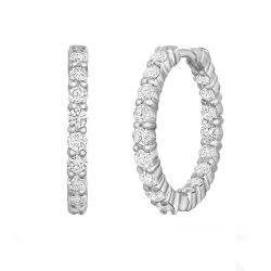 Roberto Coin Inside Outside Diamond Hoops 2ctw